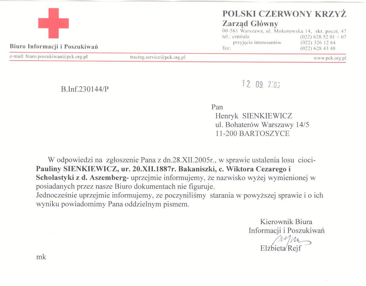 PCK Apolonia Sienkiewicz