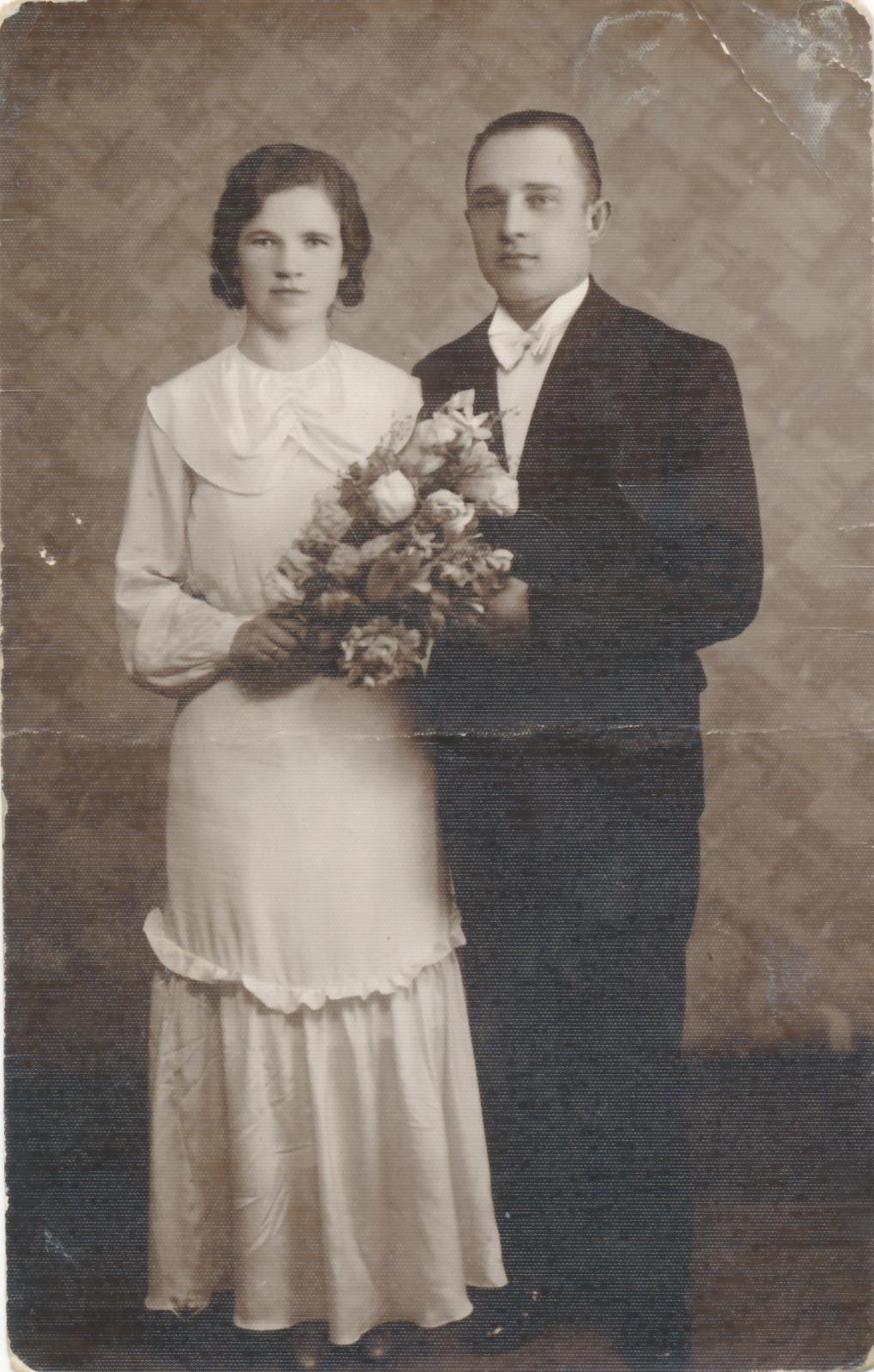 Paweł Wierzinkiewicz z żoną