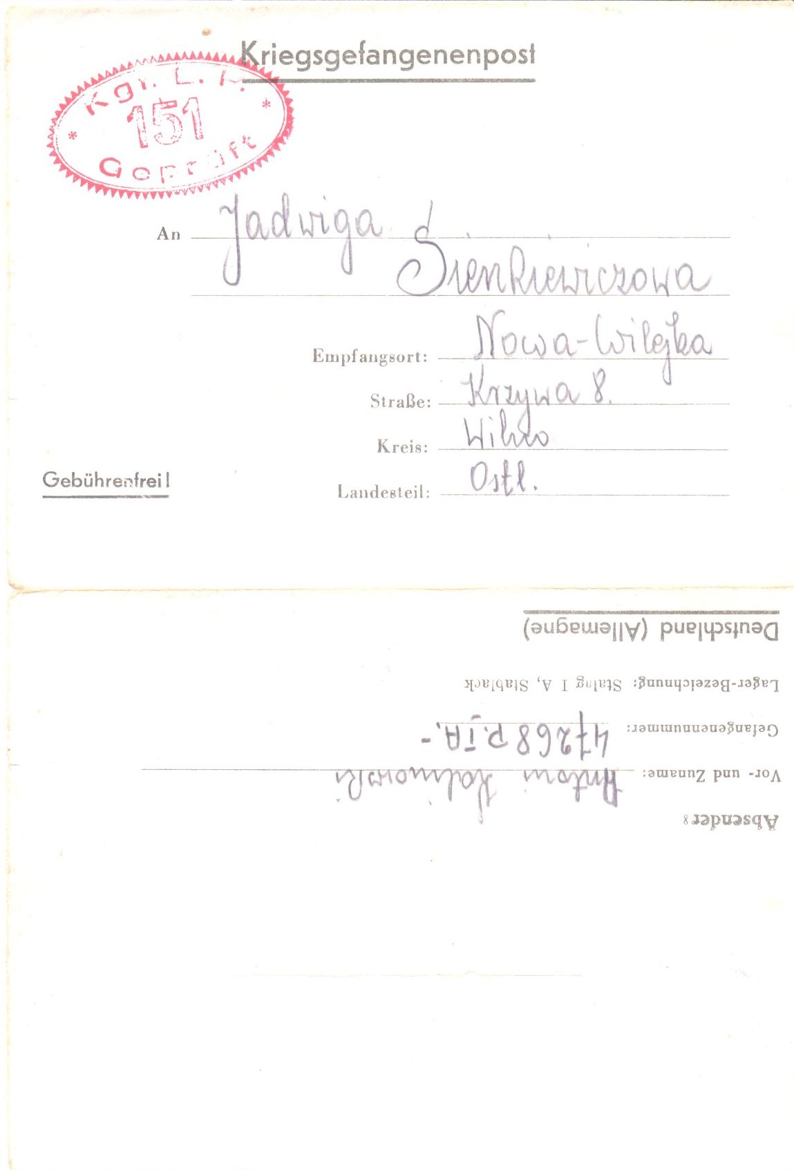list z obozu